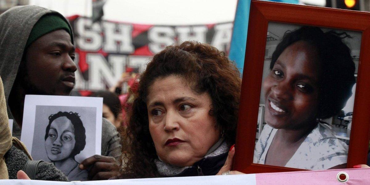 Realizaron marcha en conmemoración de Joane Florvil, haitiana fallecida hace un año en nuestro país