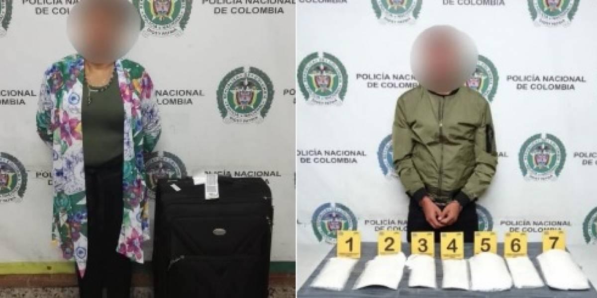 Capturan pareja con cocaína en el aeropuerto ElDorado de Bogotá