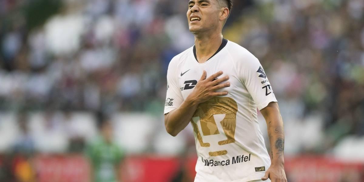 Gol de Felipe Mora no basta para que los Pumas lideren en México
