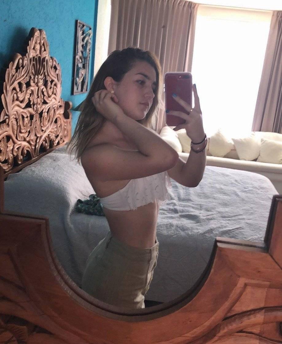 Melenie es la primera hija de Alicia Villarreal Instagram