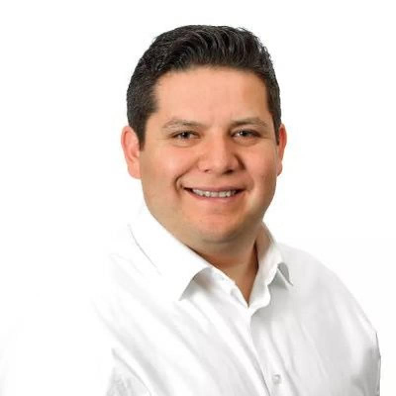 Octavio Rivero, alcalde en Milpa Alta. Twitter.