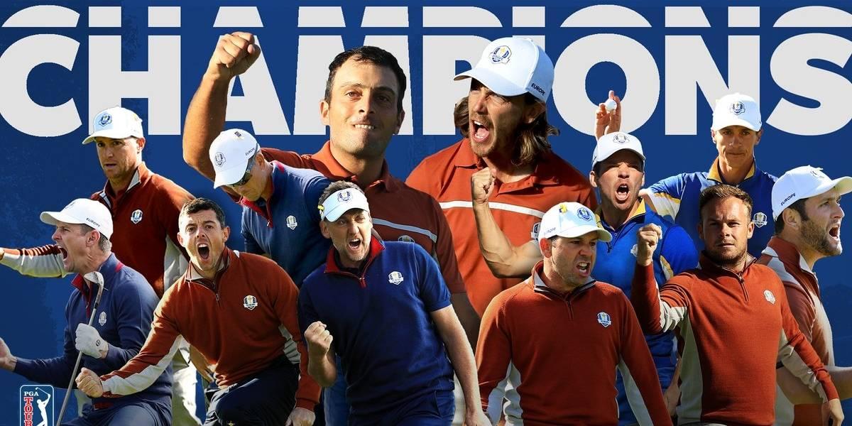 Europa se hizo fuerte y derrota a Estados Unidos en la Ryder Cup de golf