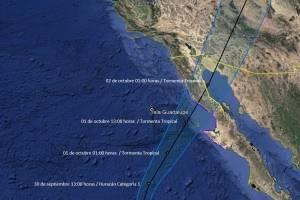 """Se debilita huracán """"Rosa""""; """"Sergio"""" es la nueva amenaza del Pacífico"""