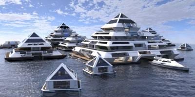 Pirámides flotantes