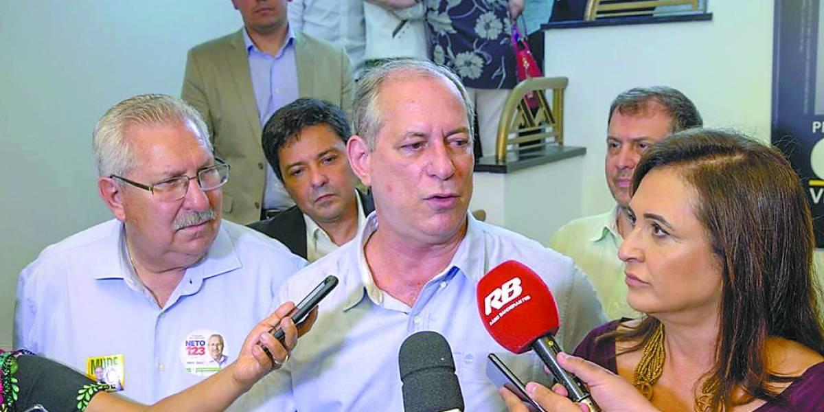 Ciro diz que aceitaria apoio de Alckmin e Marina ainda no primeiro turno