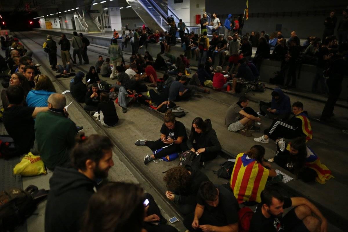 protestas Barcelona referéndum Cataluña