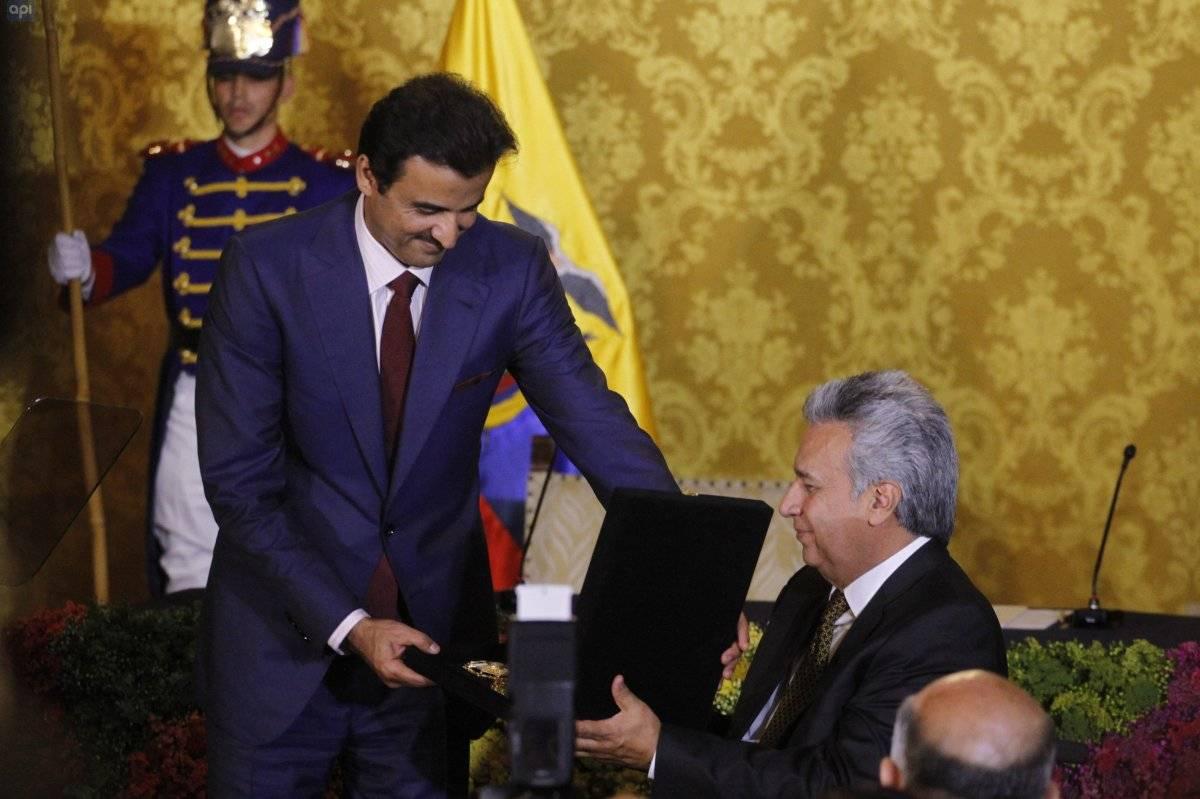 Presidente Moreno y emir de Catar firman varios acuerdos