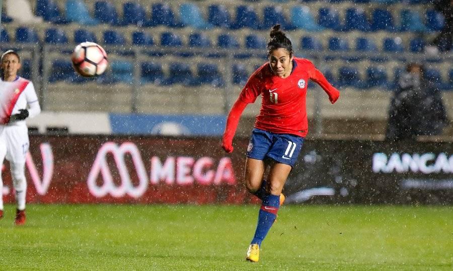 La Paloma López es una de las figuras de la selección femenina de Chile que se prepara para el Mundial Francia 2019 / Foto: Agencia UNO