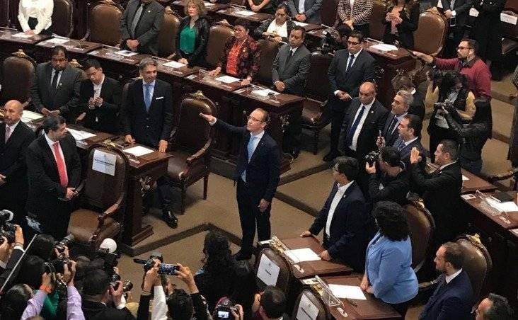 Santiago Taboada por Benito Juárez Foto: @Congreso_CdMex