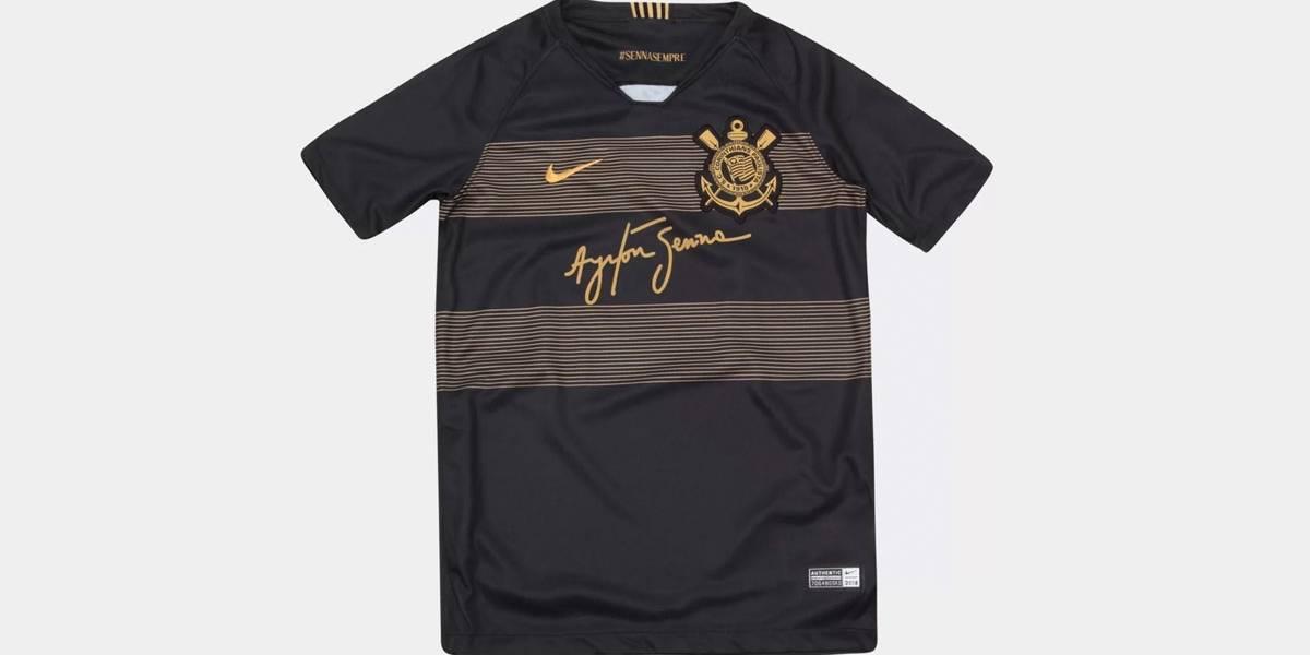 Corinthians lança camisa em homenagem a Ayrton Senna  a9dcb1d24fb17