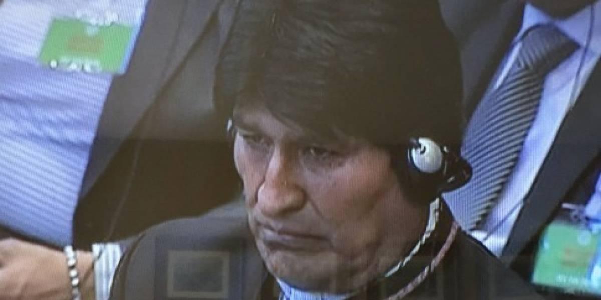 """""""Recójanle la cara a Evo"""": tuiteros se burlan con todo del rostro de Morales en pleno fallo de La Haya"""