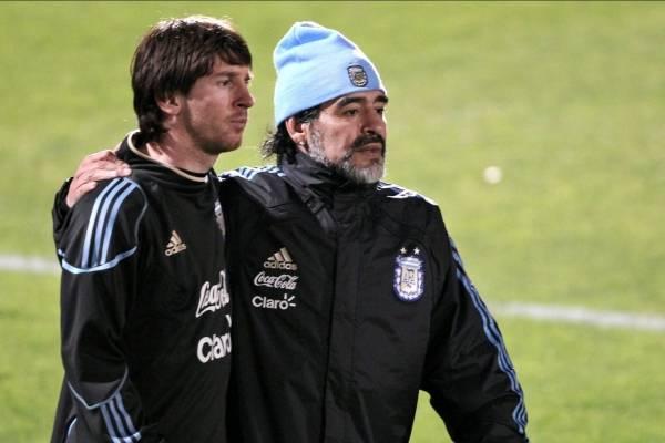 Maradona le pidió a Messi que no regrese a Selección
