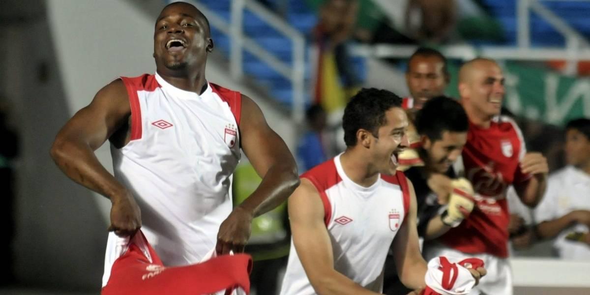 ¡Referente de Santa Fe calentó el clásico contra Millonarios en Copa Sudamericana!