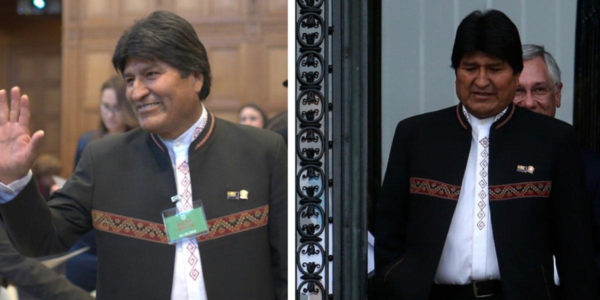 Evo en dos imágenes: el rostro del triunfo y la derrota en la cara de Morales tras fallo de La Haya