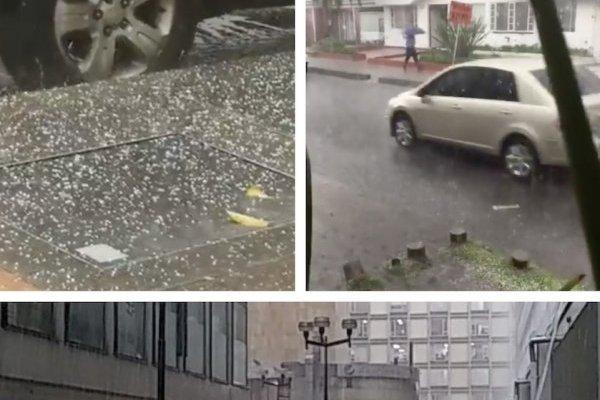 Con fotos y videos reportan fuerte lluvia con granizo en Bogotá
