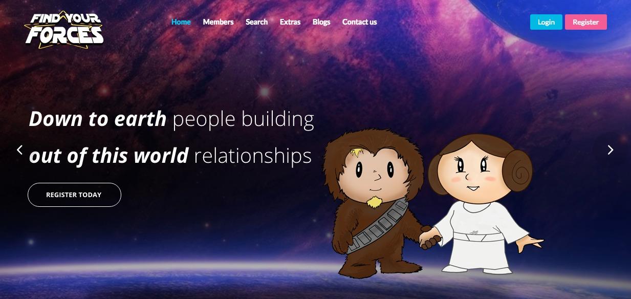 ¿Eres fan de Star Wars y buscas pareja? Este sitio de citas podría serte útil