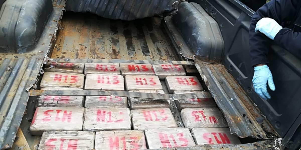 Dos hombres capturados con cocaína en Totonicapán