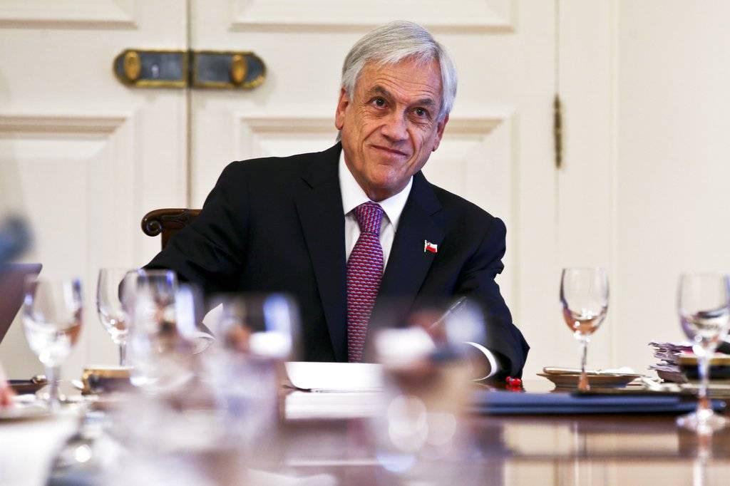 Sebastián Piñera en Santiago