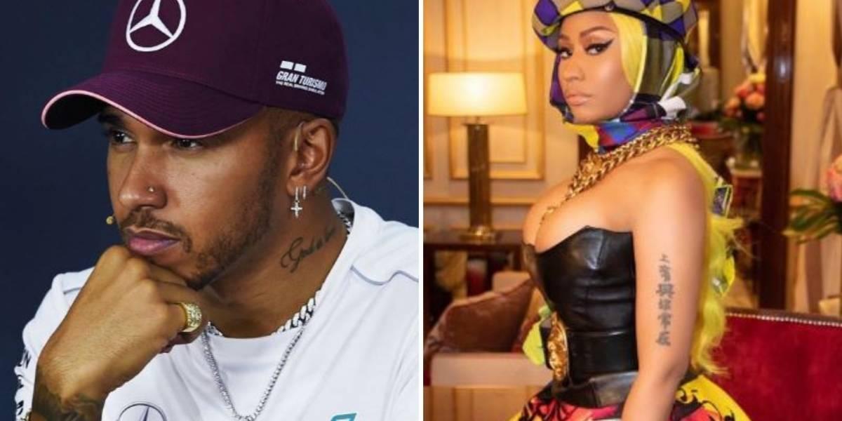 Nicki Minaj e Lewis Hamilton já não escondem romance