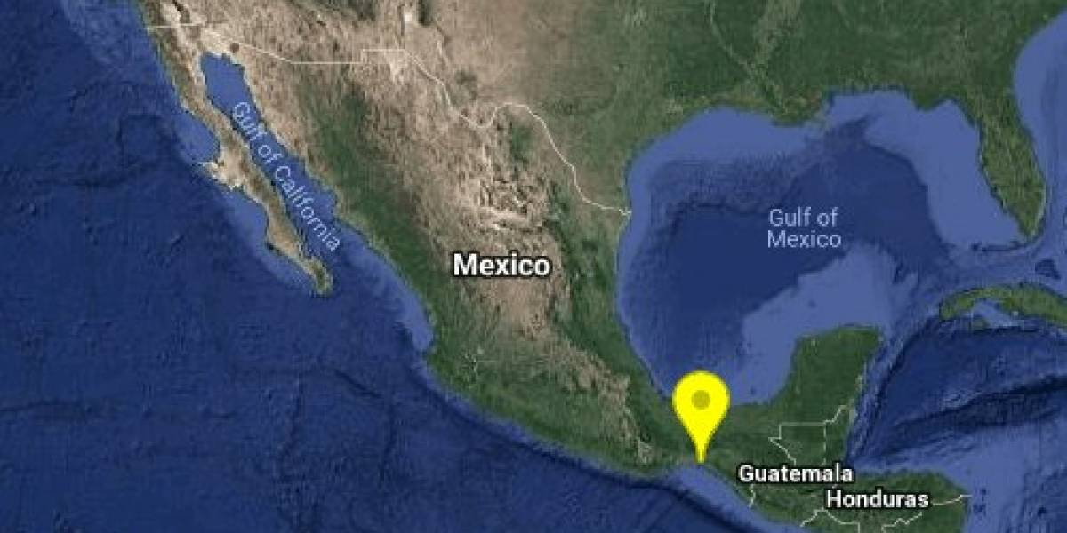 Se registra sismo con magnitud 5.4 en Chiapas