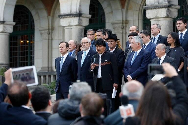 Evo Morales en La Haya