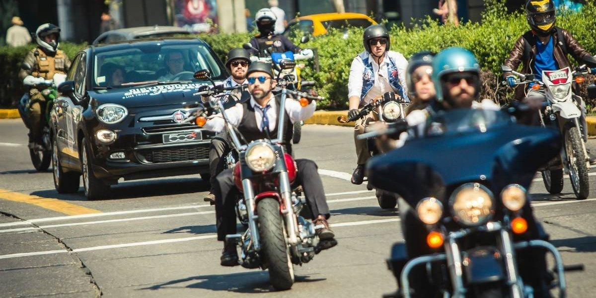 Fiat y Benjamín Hites tiran la caravana del Distinguished Gentleman's Ride