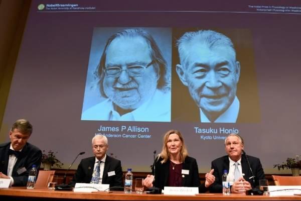 James P. Allison y Tasuku Honjo ganan el Premio Nobel de Medicina 2018