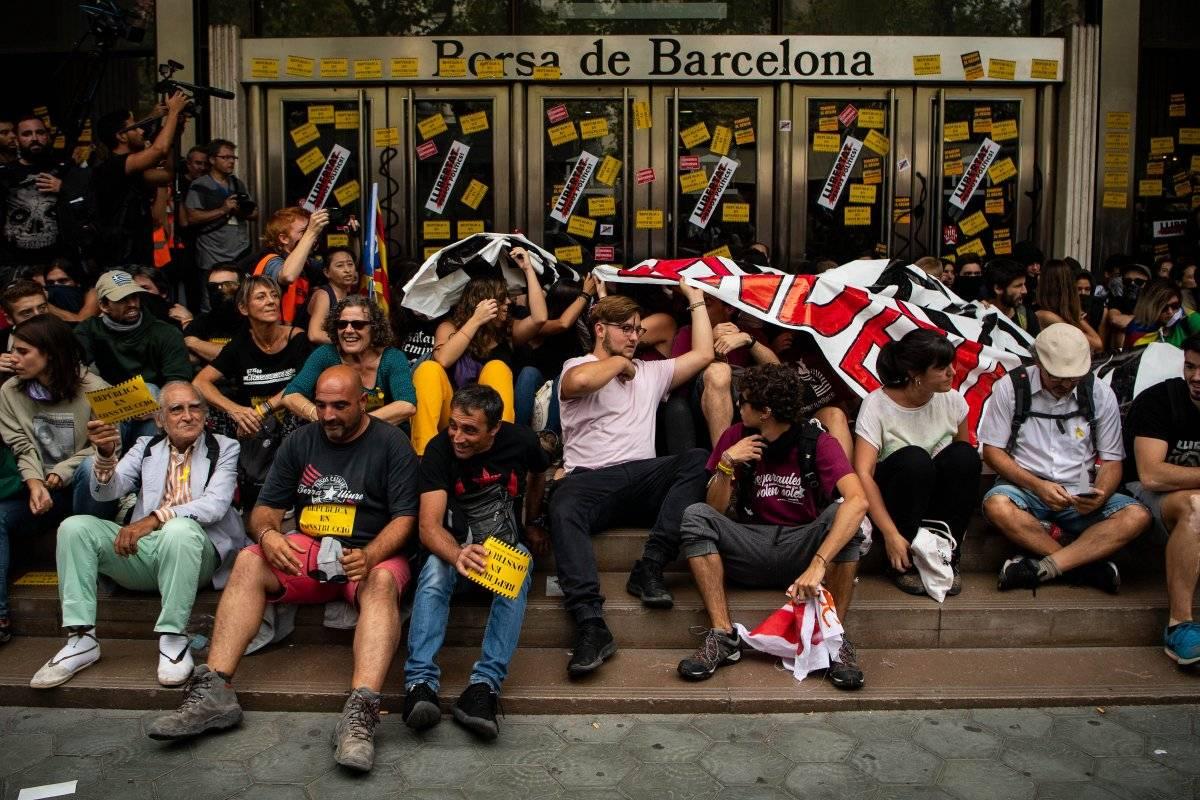 protestas en Barcelona Cataluña