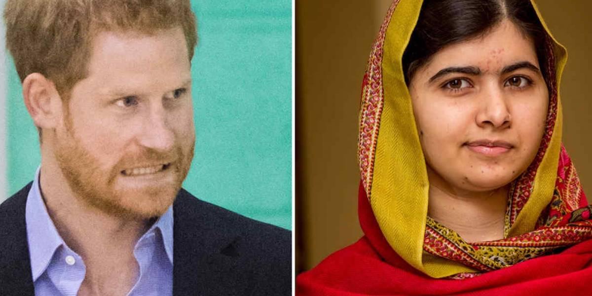 ¡En problemas! El vergonzoso momento que vivió el príncipe Harry con la activista Malala