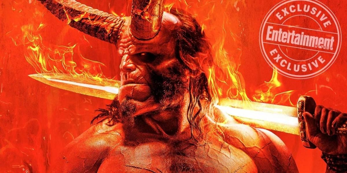 Hellboy luce espectacular en el primer póster del reinicio de la franquicia