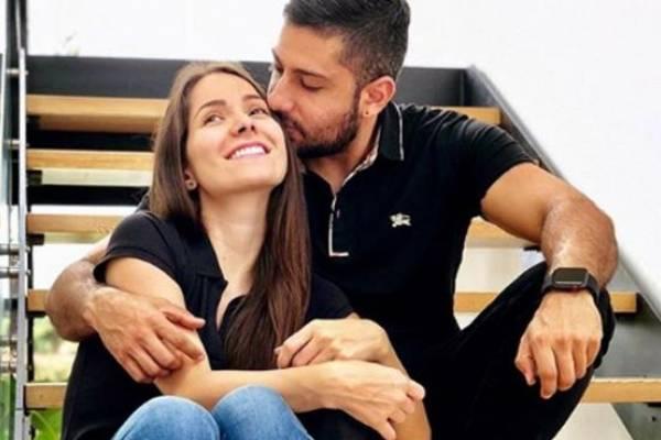 Jean Piero y Laura Muñoz, padre de Valentino