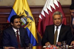 Emir de Catar llegó a Ecuador para firma de acuerdos con Ecuador