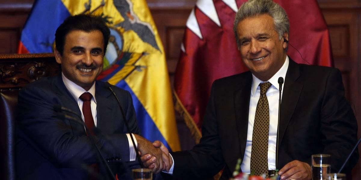 Emir de Catar llegó a Ecuador para firma de acuerdos con el Gobierno