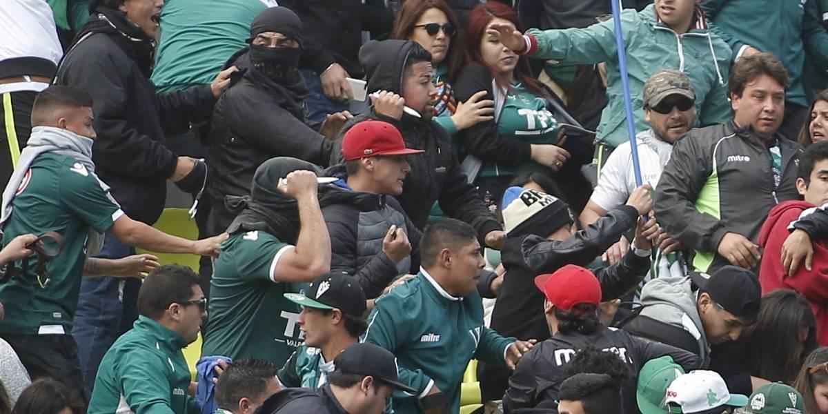 Pelea con arma blanca en la barra de Wanderers obligó intervención de Carabineros y opacó el triunfo porteño