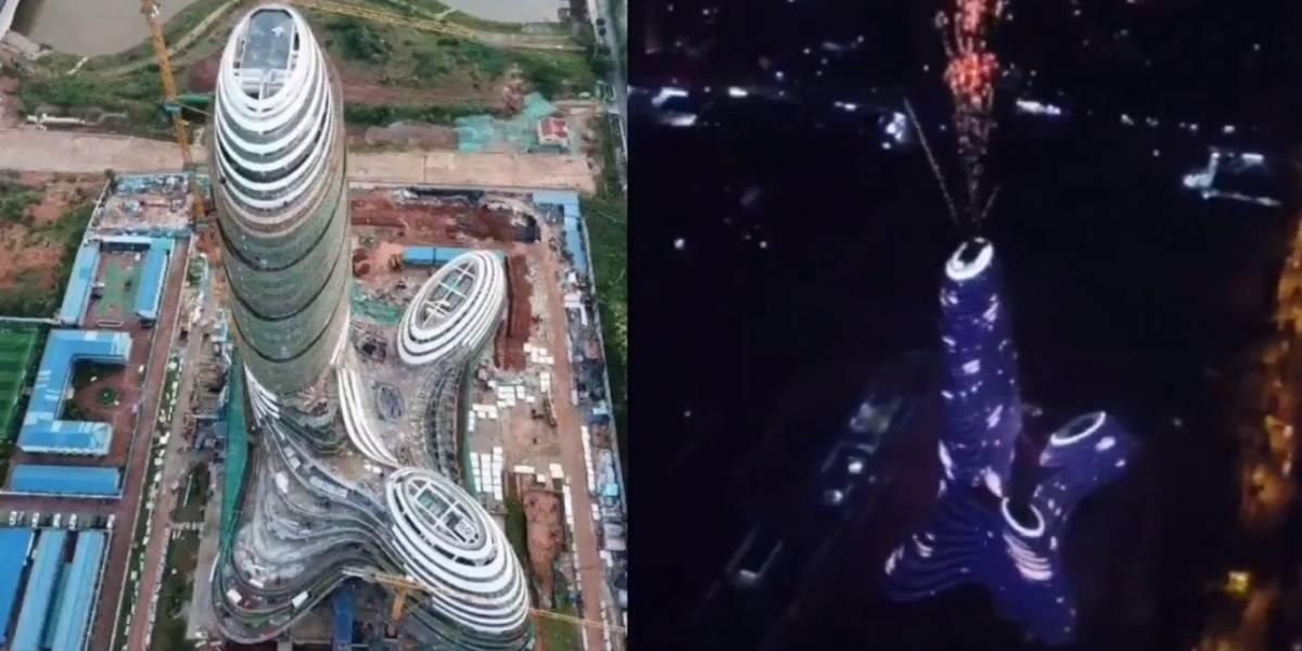 Mega edifício chinês chama a atenção por formato 'peculiar'