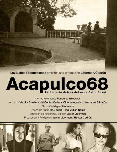 Portada del documental Acapulco 68, que puede consultarse en Internet Foto: Facebook / Acapulco 68