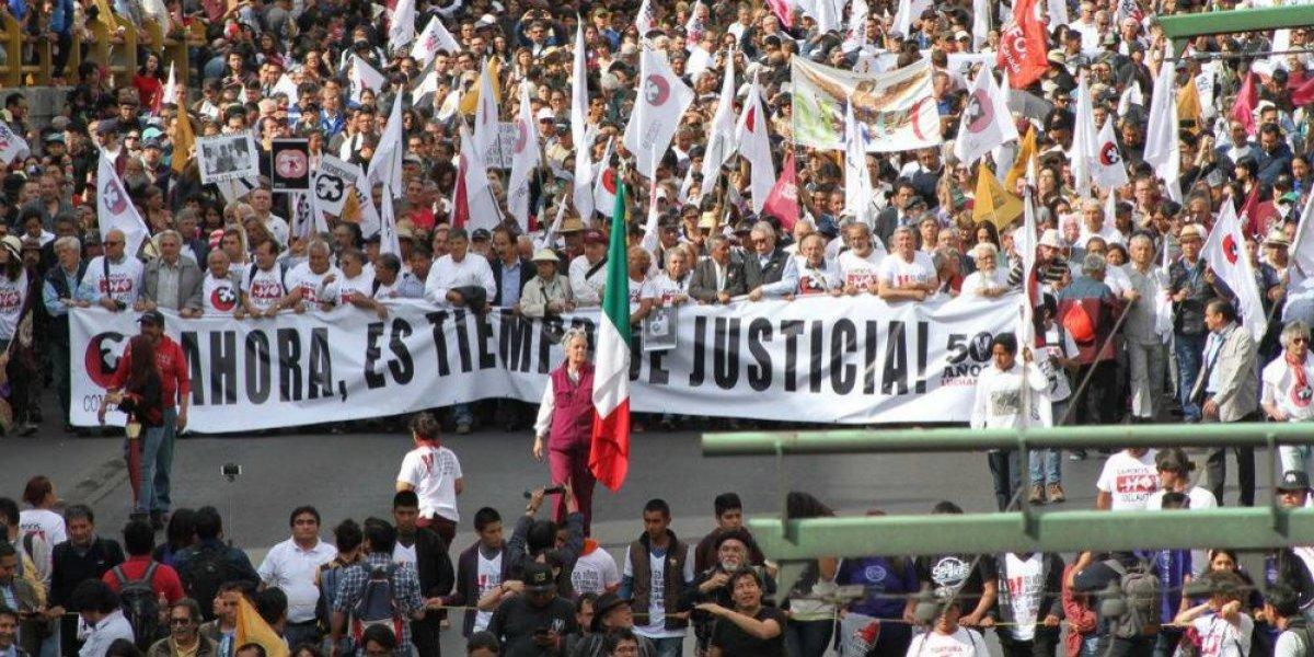 A 50 años de la represión estudiantil marchan 45 mil