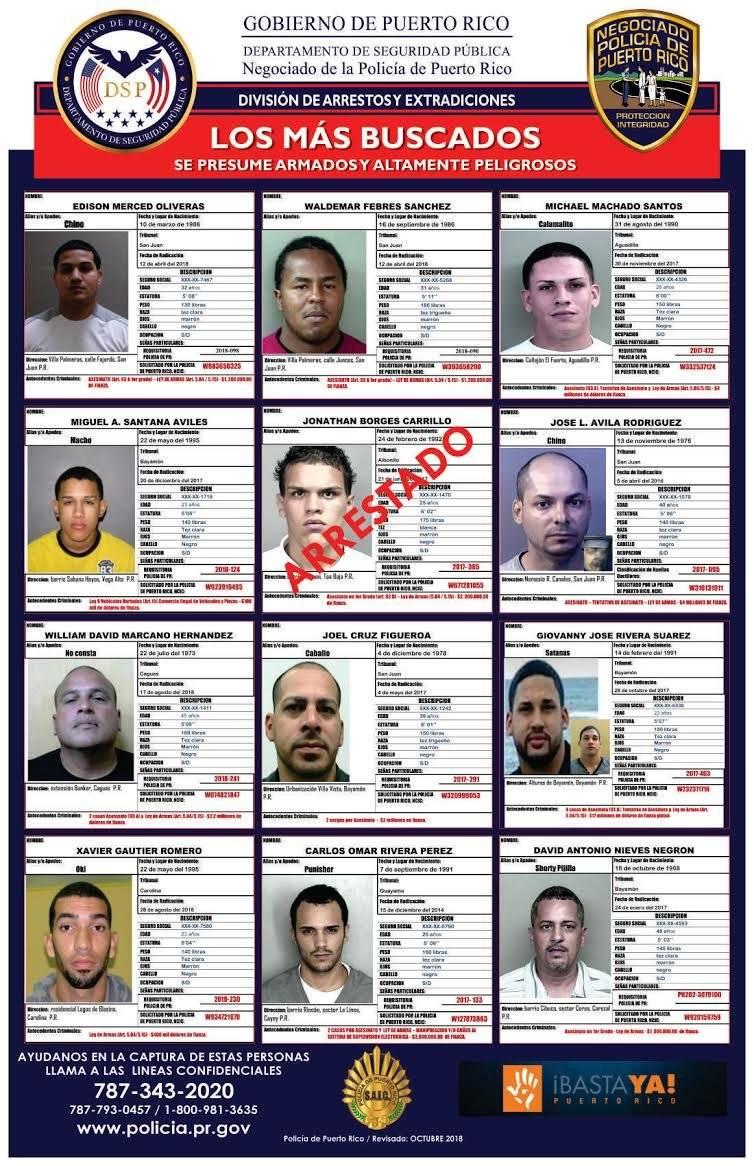 Publican afiche de los criminales más buscados en la isla | Metro