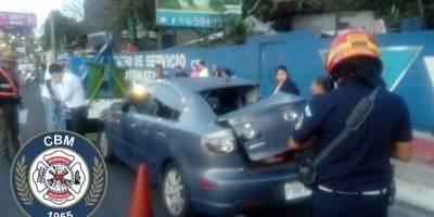 accidente en Km. 14 de ruta al Pacífico