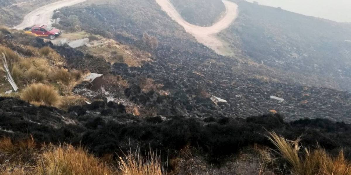 Más de 800 hectáreas consumidas en incendio forestal en cerro Atacazo