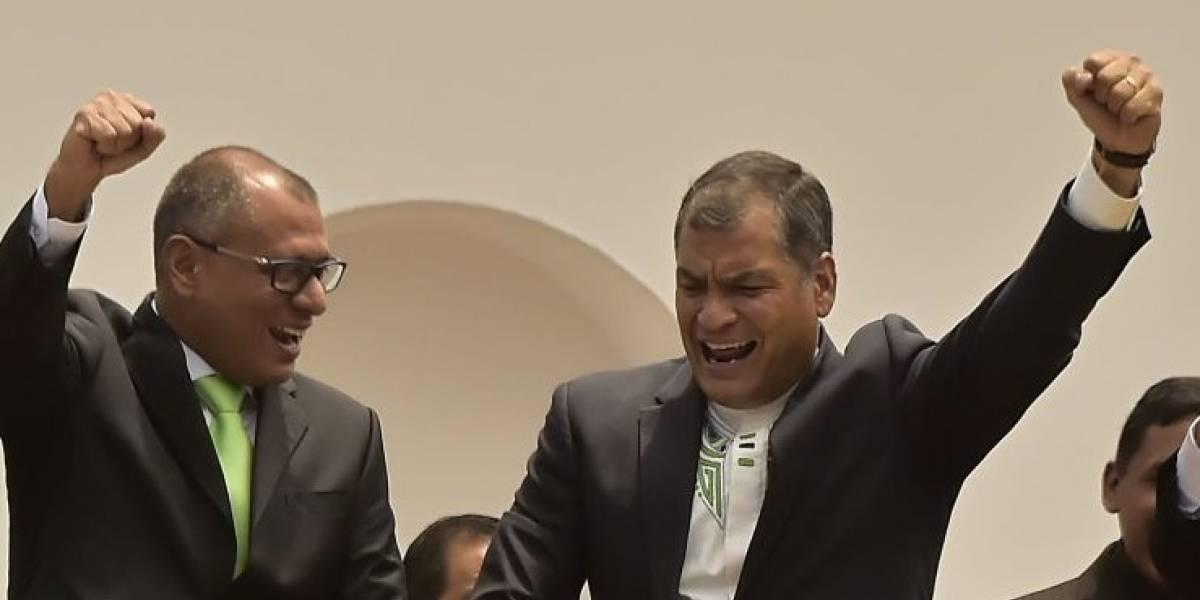 Rafael Correa dedicó un mensaje a Jorge Glas, que cumple año de prisión preventiva