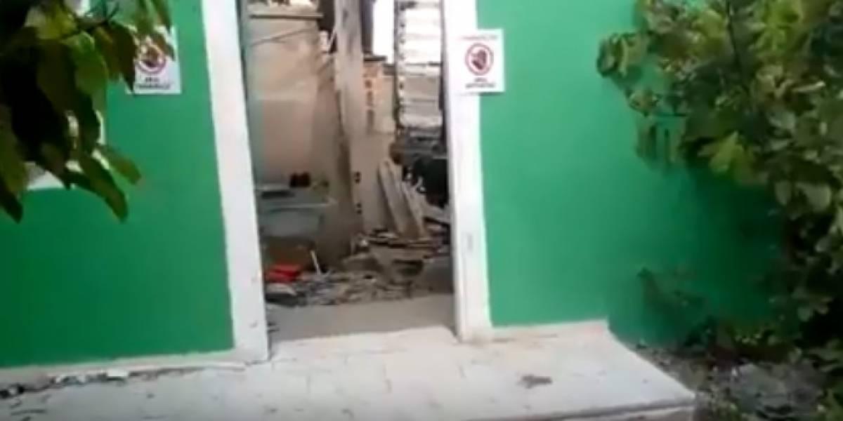 En video: Totalmente destruida así quedó vivienda presunto asesino de niña en Fundación
