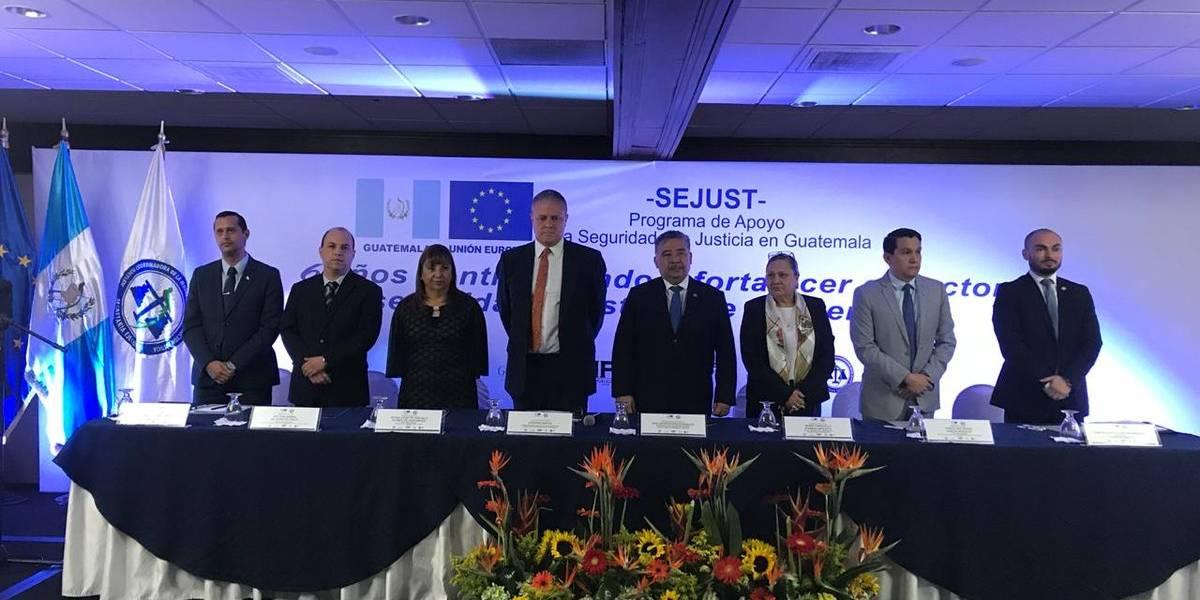 Concluye programa de la Unión Europea para apoyar seguridad y justicia en Guatemala