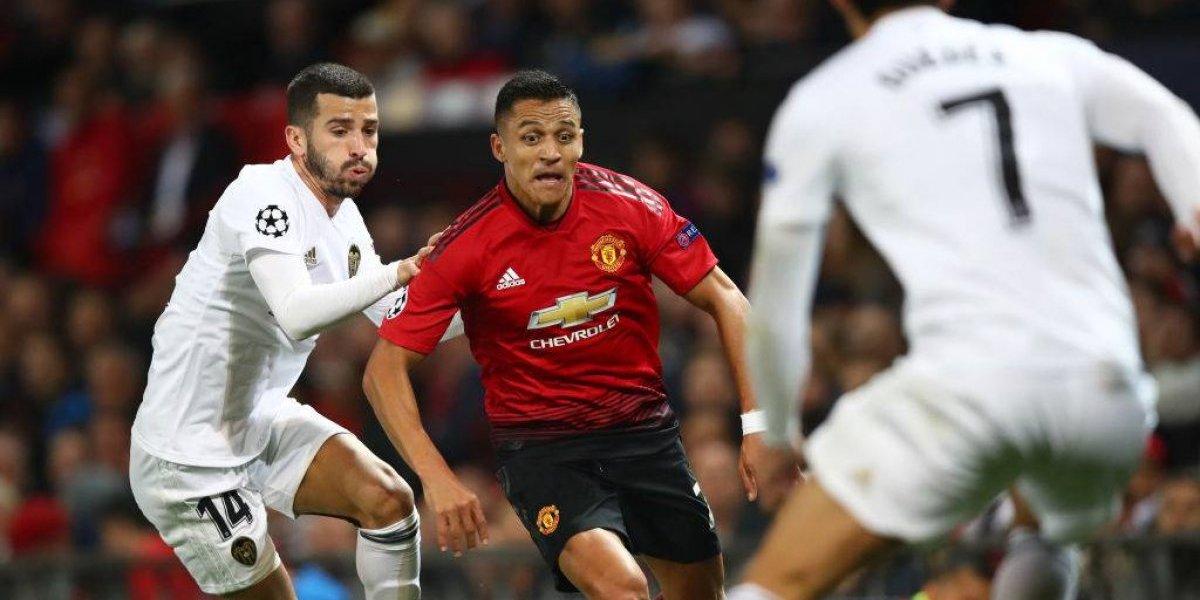 Minuto a minuto: Alexis y el United buscan salir de la crisis enfrentando a Valencia por Champions