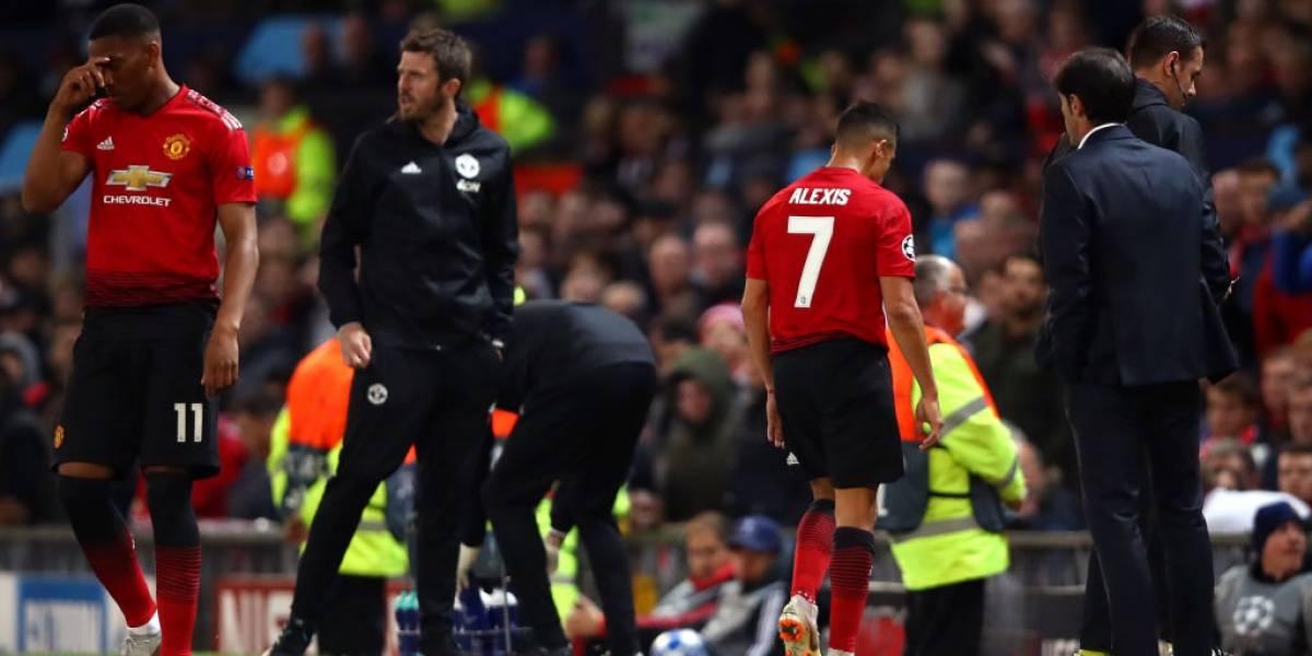 Alexis Sánchez se fue ovacionado en el pobre empate de Manchester United en la Champions