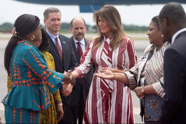 Melania Trump visita Ghana