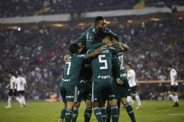 Palmeiras repetirá el 11 que ganó en Santiago / imagen: Photosport
