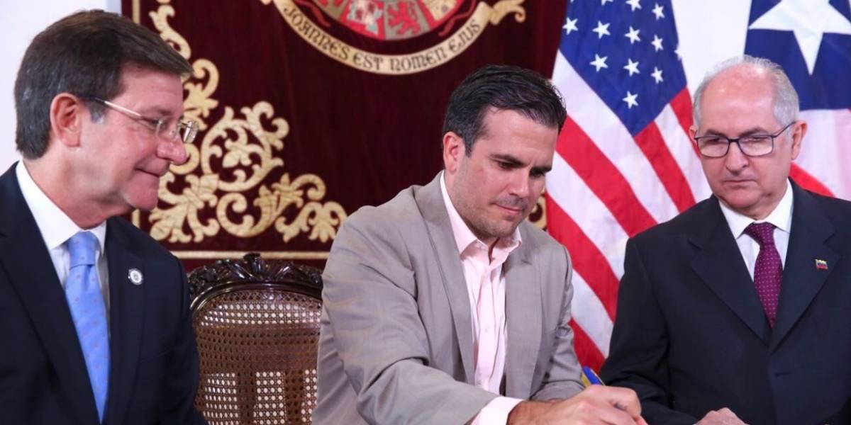 Gobernador firma declaración conjunta para la reconstrucción de Venezuela