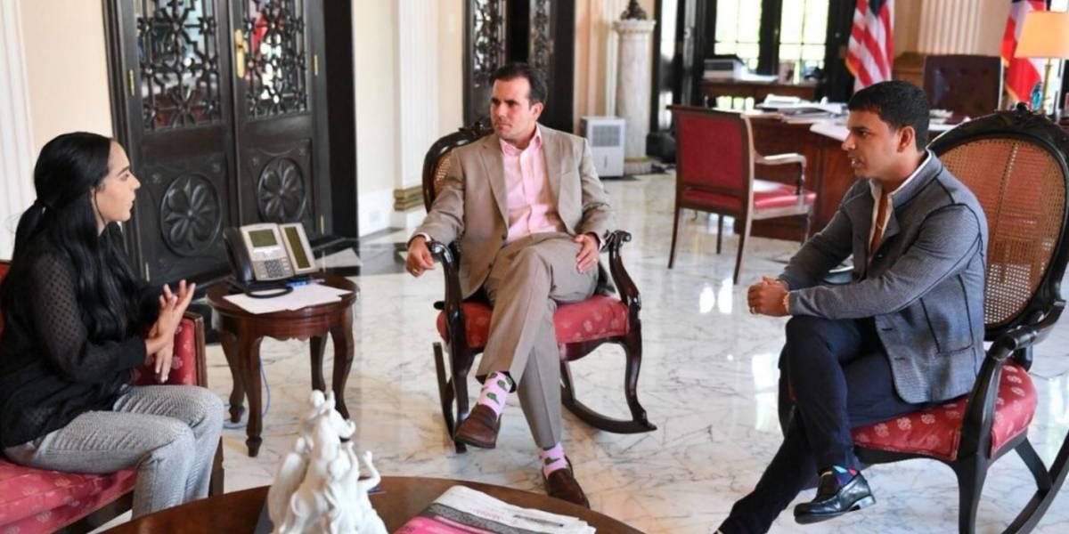 Rosselló recibe a hija de Tito El Bambino en Fortaleza