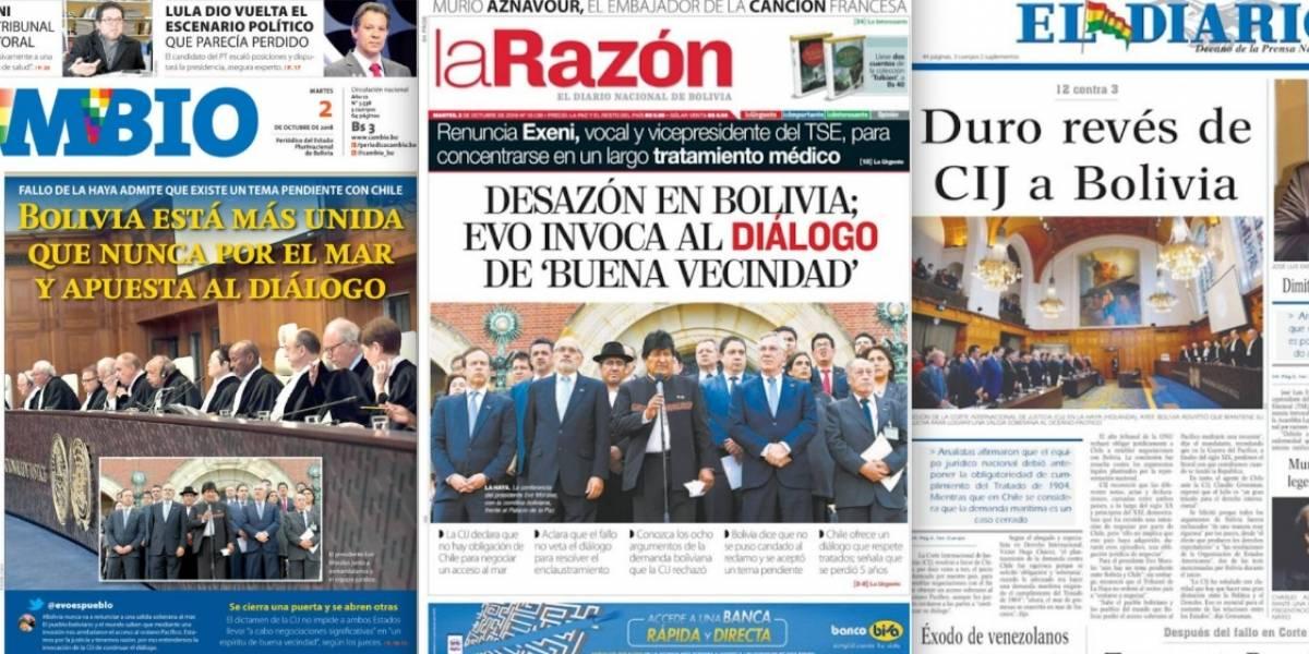 Una sufrida derrota: la reacción de la prensa en Bolivia ante el fallo de la Haya